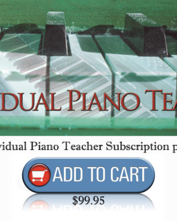 "Annual Individual Piano Teacher ""Cool Songs"" Subscription - Music Motivation (Jerald Simon)"
