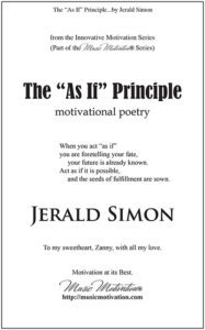 The As If Principle by Jerald Simon – published by Music Motivation