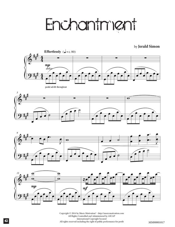 Enchantment by Jerald Simon from the book Sweet Melancholy by Jerald Simon - published by Music Motivation