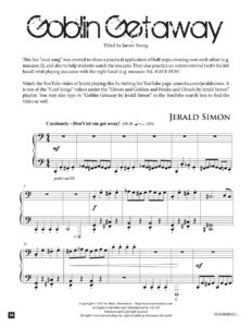 Goblin Getaway by Jerald Simon – published by Music Motivation
