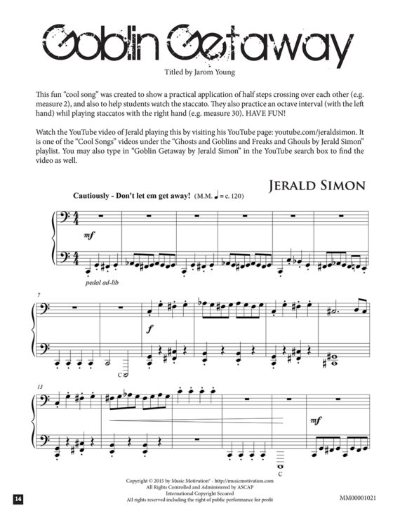 Goblin Getaway by Jerald Simon - published by Music Motivation