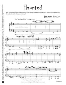 Haunted by Jerald Simon – published by Music Motivation