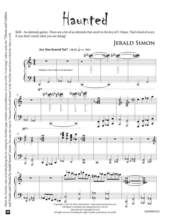 Haunted by Jerald Simon - published by Music Motivation