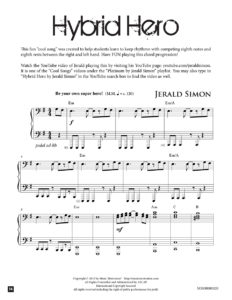 Hybrid Hero by Jerald Simon (published by Music Motivation)