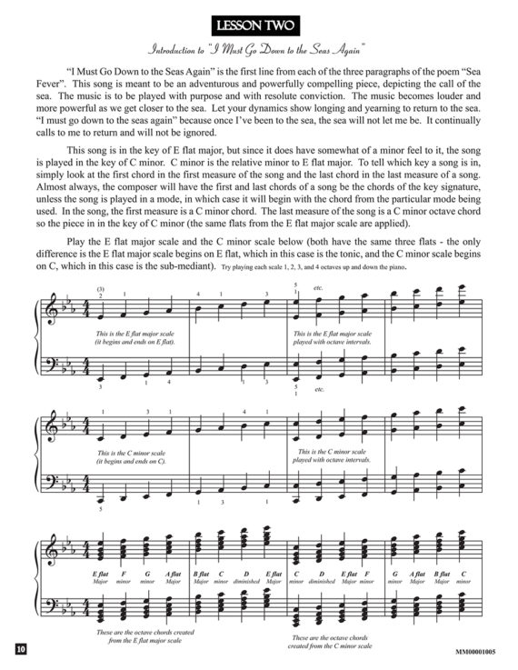 Lesson - from the book Sea Fever by Jerald Simon (published by Music Motivation)
