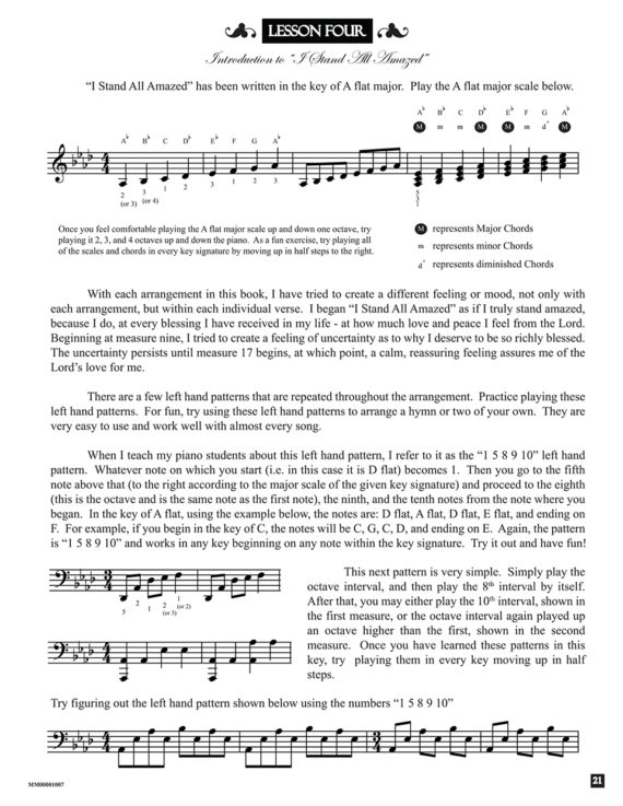 Lesson from the book Hymns of Exaltation by Jerald Simon (published by Music Motivation)