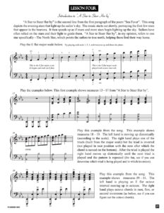Lesson 4 Lesson – from the book Sea Fever by Jerald Simon (published by Music Motivation)