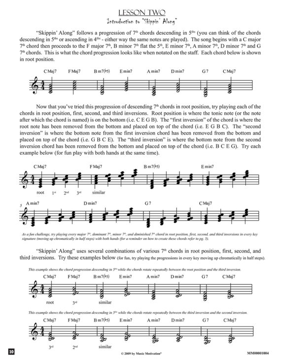 Lesson two example - Skipping Along by Jerald Simon published by Music Motivation