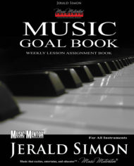 Music Motivation Goal Book (front outside)