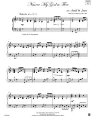 Nearer My God to Thee arr. by Jerald Simon