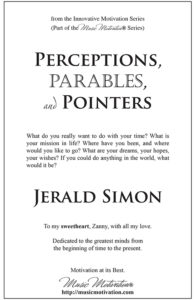 Perceptions, Parables, and Pointers by Jerald Simon – published by Music Motivation