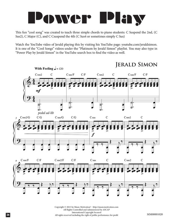 Power Play by Jerald Simon (published by Music Motivation)