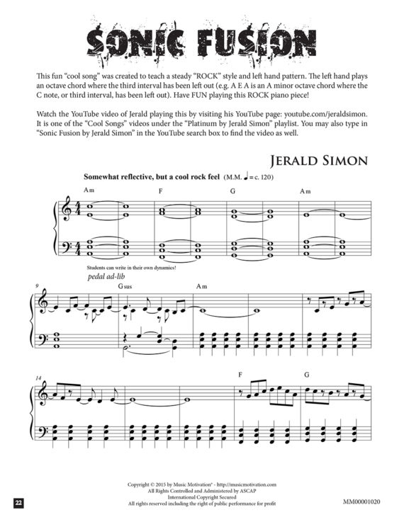 Sonic Fusion by Jerald Simon (published by Music Motivation)