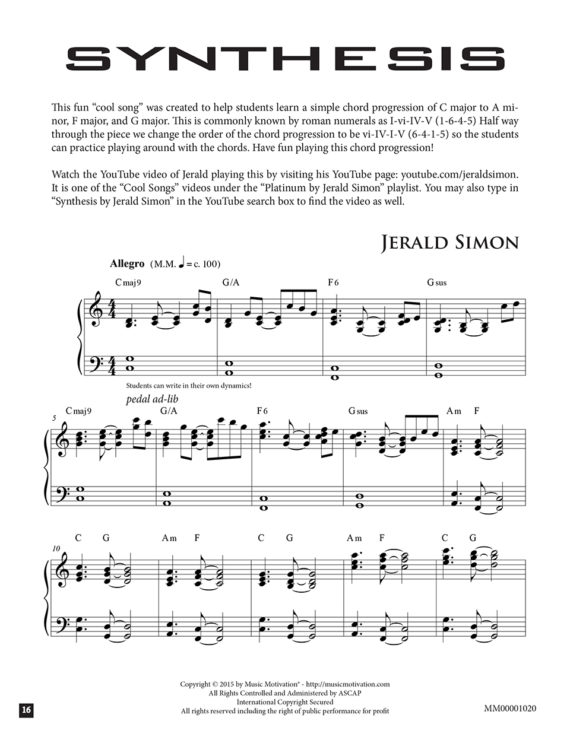 Synthesis by Jerald Simon (published by Music Motivation)