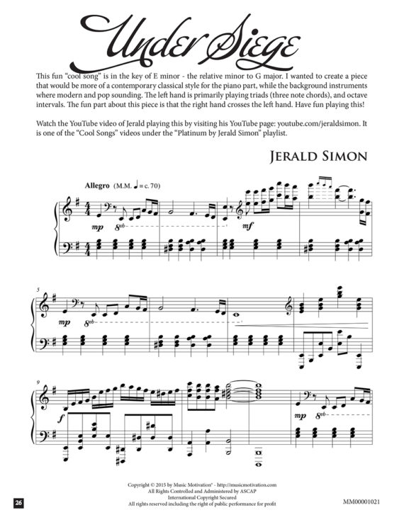 Under Siege by Jerald Simon - published by Music Motivation