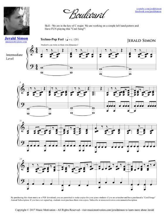 Boulevard by Jerald Simon - published by Music Motivation