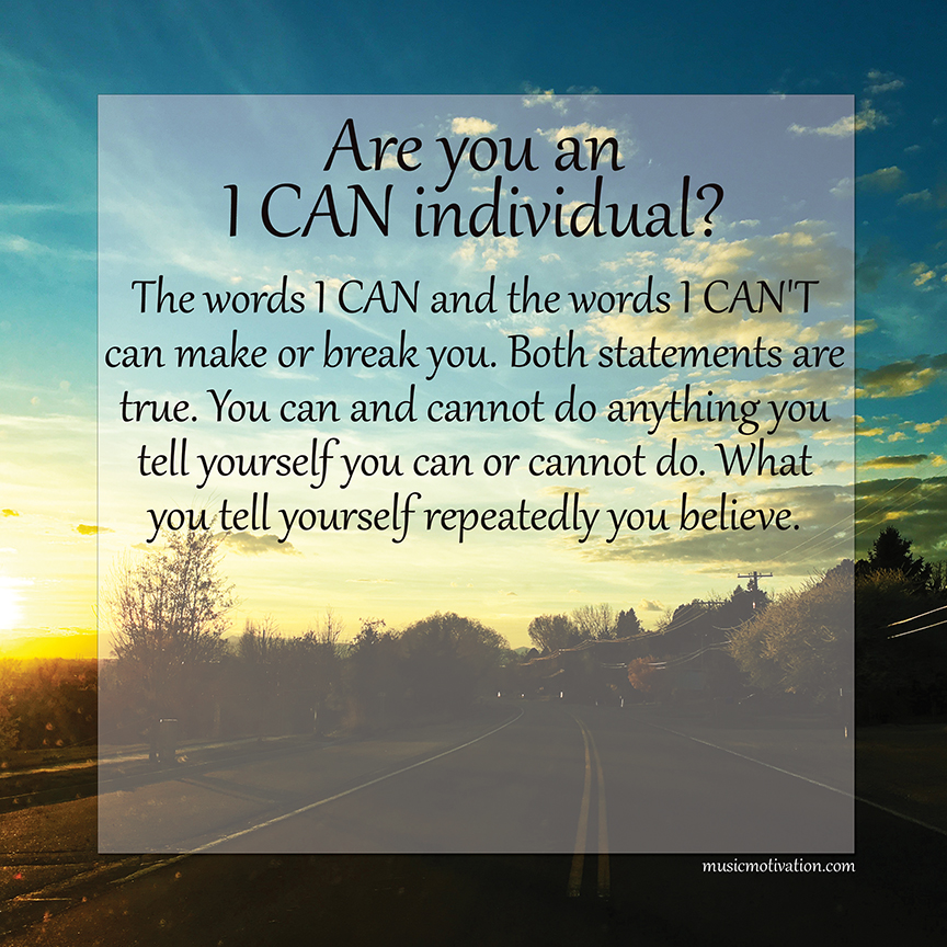 I CAN image from the Island of I CAN and the Isle of I Can't by Jerald Simon published by Music Motivation