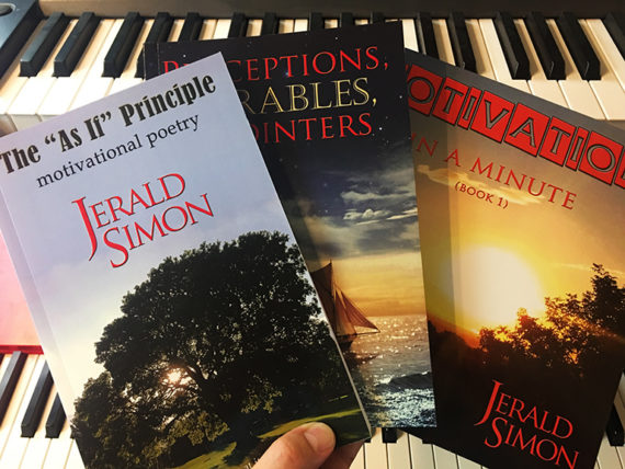 Motivational book set (3 books) by Jerald Simon - published by Music Motivation