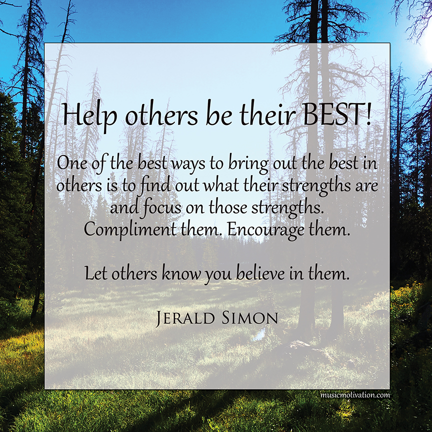 Help Others be Their Best by Jerald Simon - published by Music Motivation