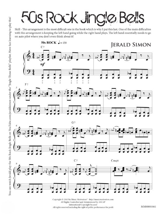 50s Rock Jingle Bells by Jerald Simon - Published by Music Motivation