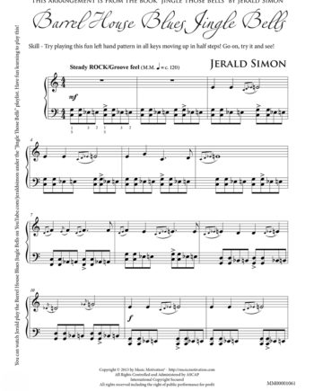 Barrel House Blues by Jerald Simon - published by Music Motivation
