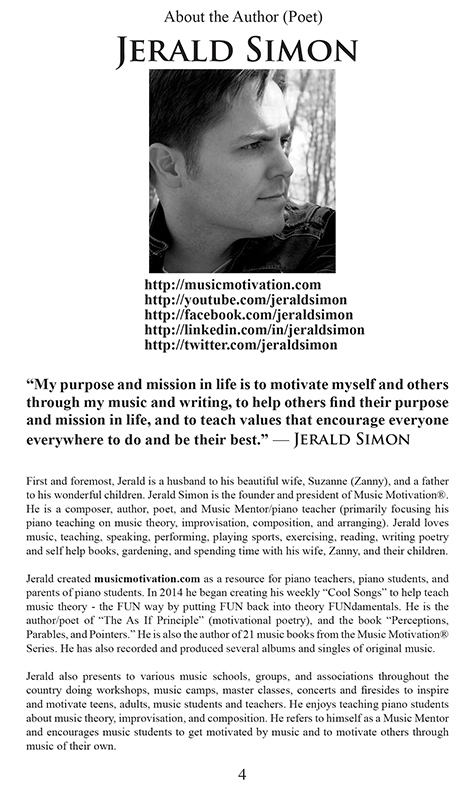Who Are You? Inside page 3 sample by Jerald Simon - published by Music Motivation