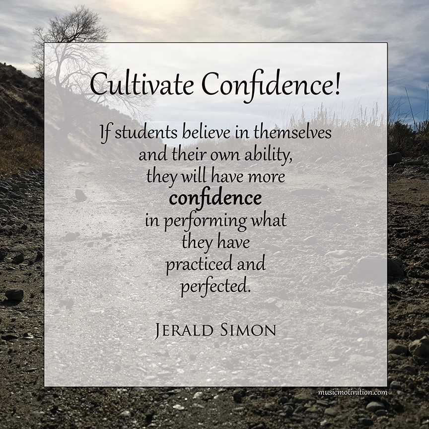 Cultivate Confidence by Jerald Simon - published by Music Motivation