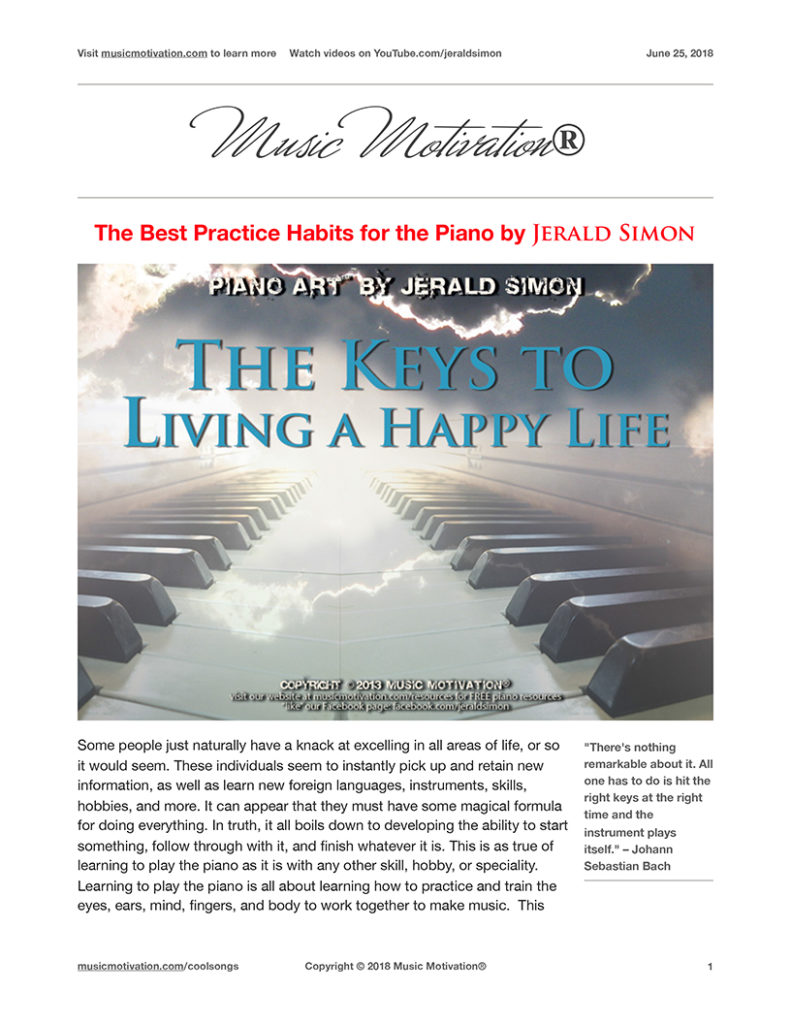 A Simple Practice Schedule for Piano Students – musicmotivation