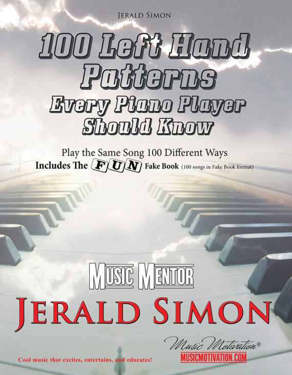 100 Left Hand Patterns cover image by Jerald Simon published by Music Motivation