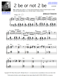 Image of 2 be or not 2 be by Jerald Simon (Music Motivation)