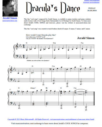 Image of Dracula's Dance by Jerald Simon - Published by Music Motivation (musicmotivation.com)
