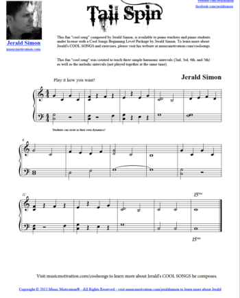 Image of Tail Spin for the website by Jerald Simon - Published by Music Motivation (musicmotivation.com)