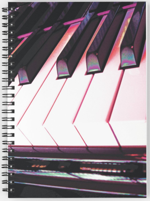 Image of front cover of Spiral Note book by Jerald Simon (Music Motivation - musicmotivation.com)