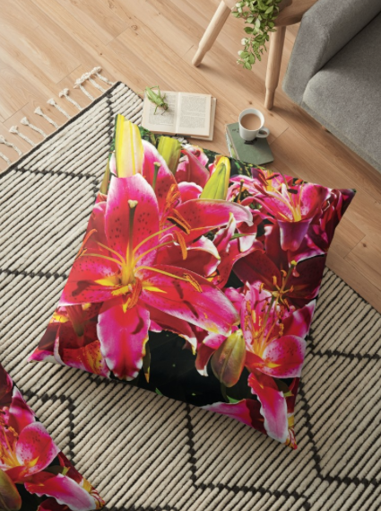 Asiatic Lily Photography by Jerald Simon - Music Motivation (musicmotivation.com) - Pillow Case sold by RedBubble